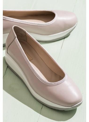 Elle %100 Deri Ayakkabı Pudra
